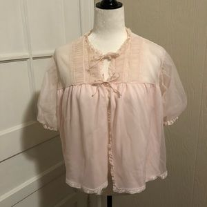 Gorgeous Sheer and Lace Night Gown Jacket
